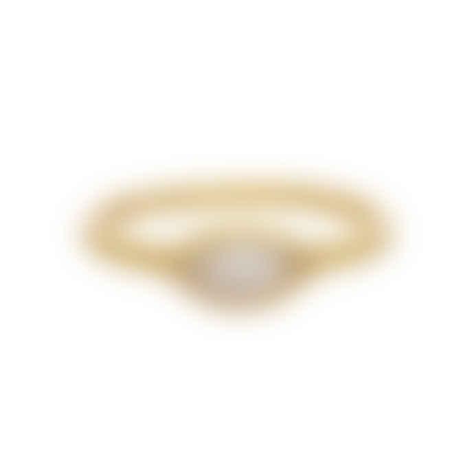 Carousel Jewels  Crystal Eye Gold Band