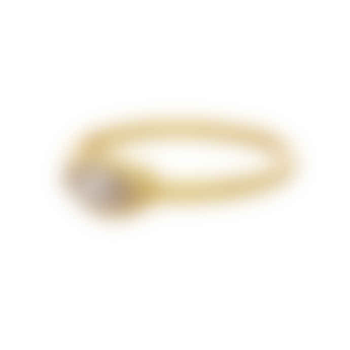 Carousel Jewels  Crystal Eye Gold Band
