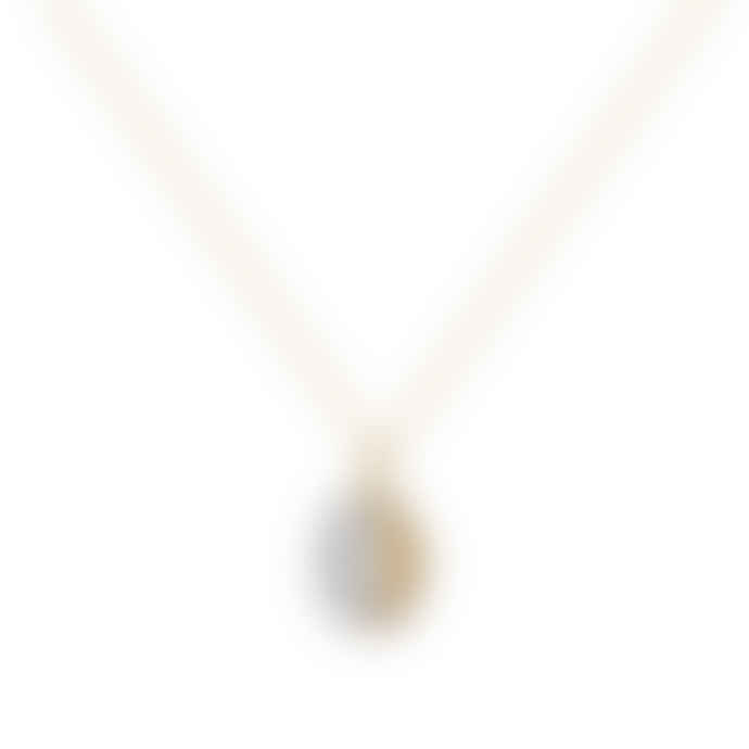 A Mini Penny Gray Locket Necklace