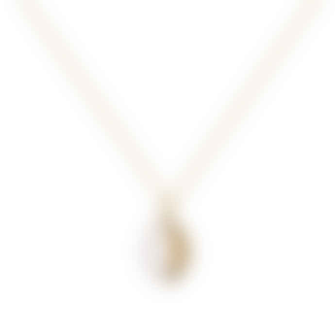 A Mini Penny White Locket Necklace