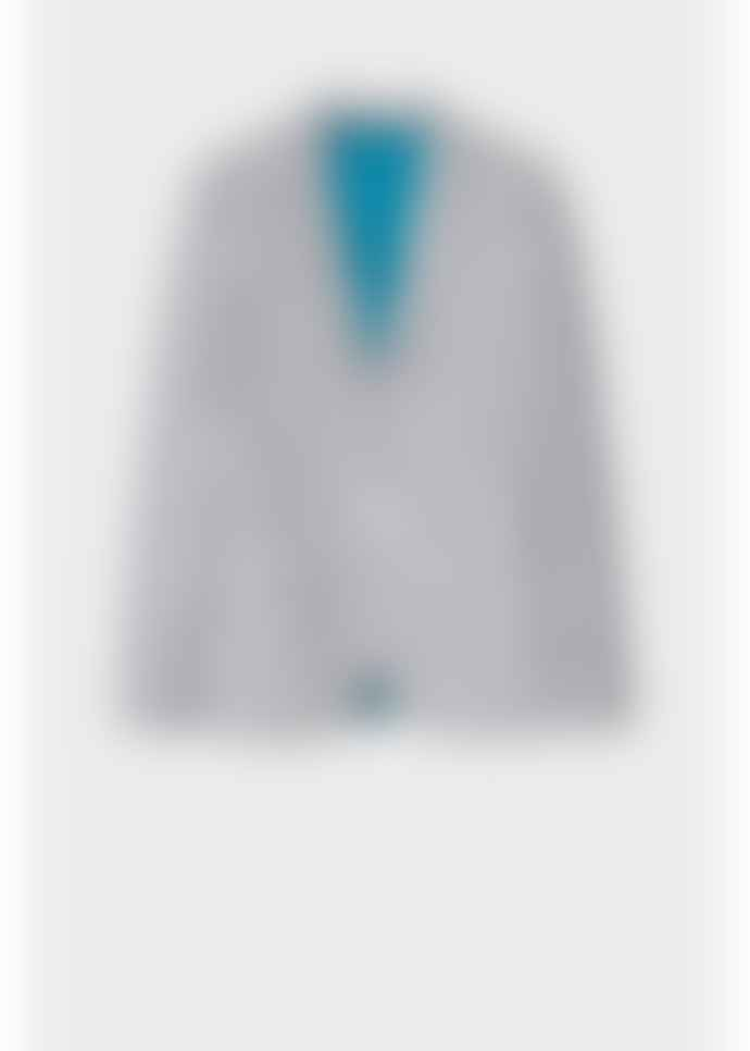 PS by Paul Smith Grey And White Striped Cotton Blazer
