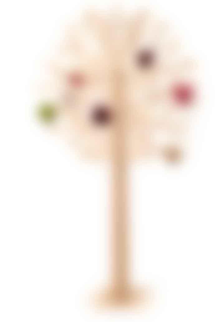 Lovi 55cm Natural Wood Tree Decorations