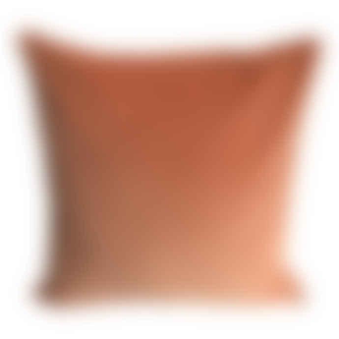 The Hackney Draper Terracotta Velvet Cushion