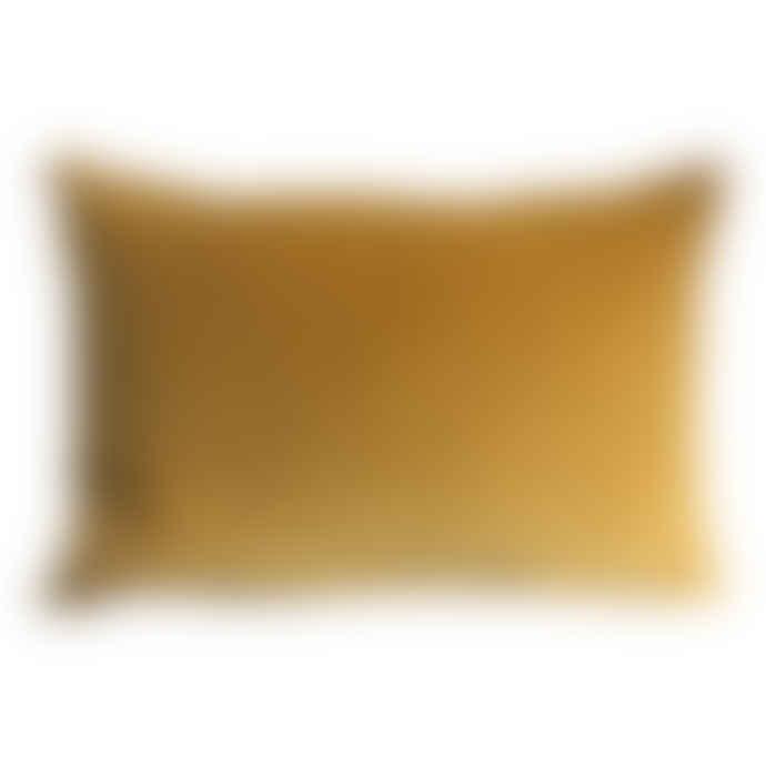 The Hackney Draper Long Turmeric Velvet Cushion