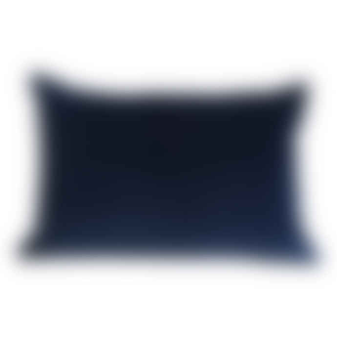 The Hackney Draper Long Navy Velvet Cushion