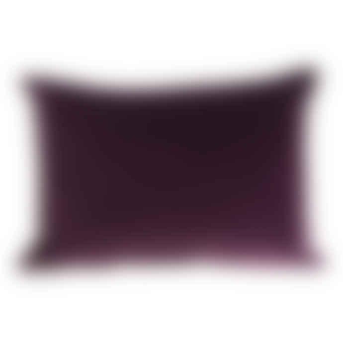 The Hackney Draper Long Aubergine Velvet Cushion