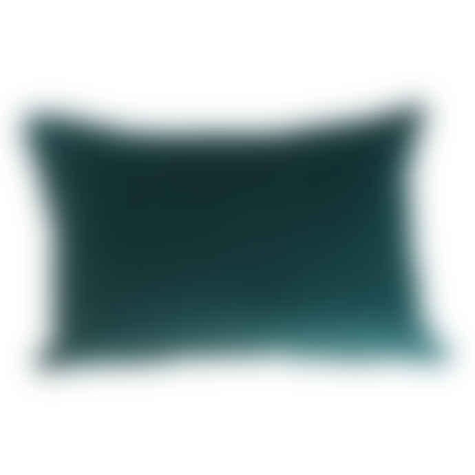 Teal Velvet Cushion Long