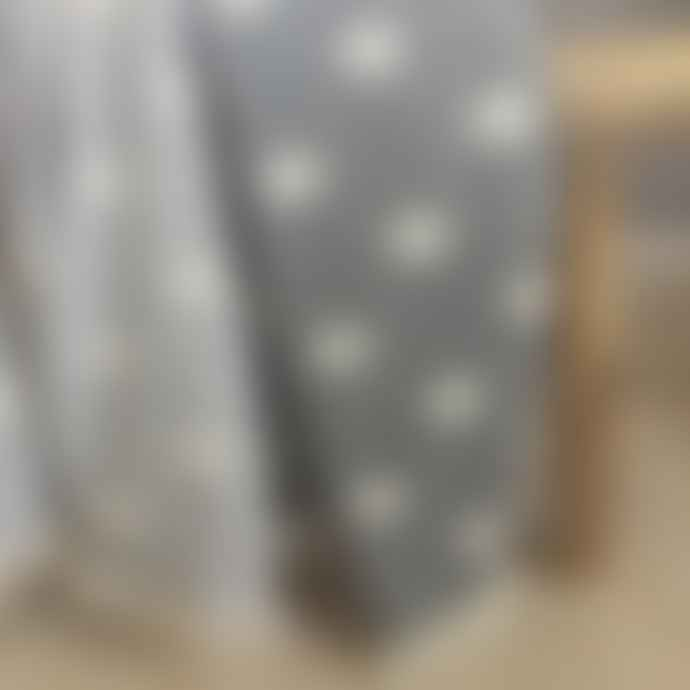 Ailera Pale Grey Star Throw With Fleece Lining