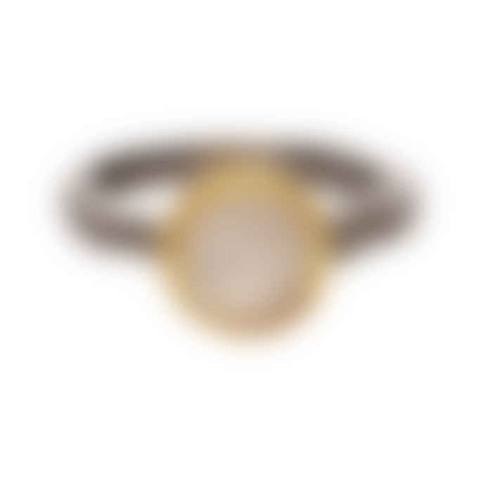 Carousel Jewels  Moonstone Gold And Silver Mix Ring