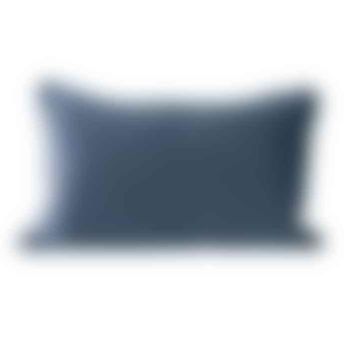 Mink Interiors Luxe Velvet Cushion - With Piped Edges, Blue-Grey (50 x 70cm) LAST ONE!