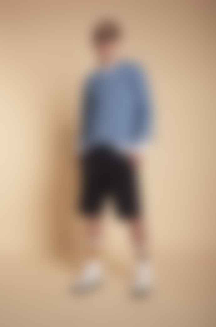 JJ Emlyn Navy Thomas Raw Shorts