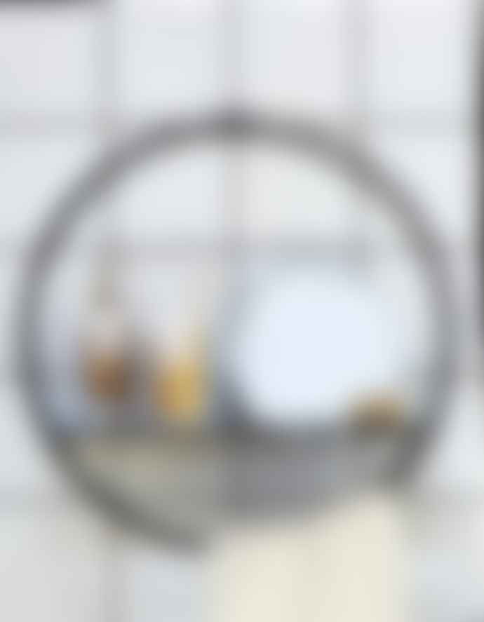 The Forest & Co. Circular Black Bathroom Shelf With Mirror