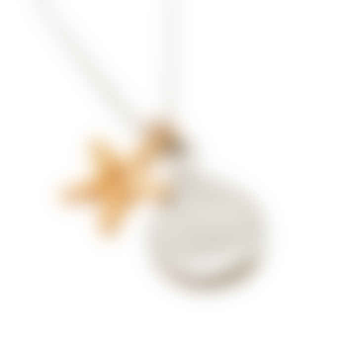 Shell and Starfish Double Charm Necklace