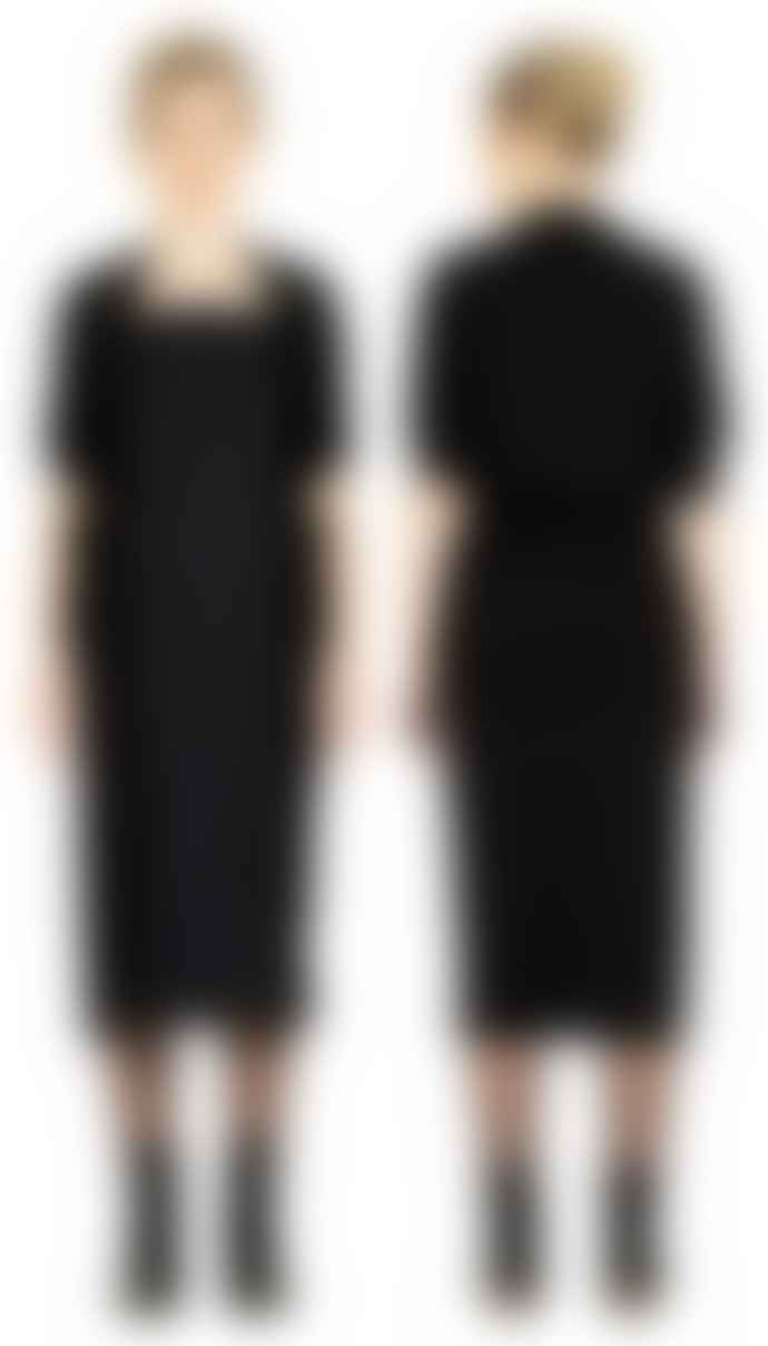 Format WRAP Black Interlock Plain Dress