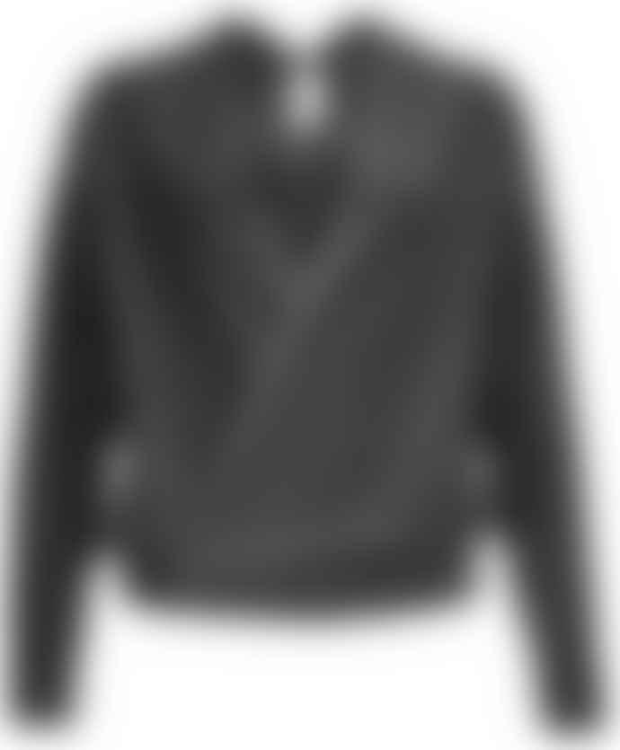 Format NOSH Black Velours Long Sleeve Top