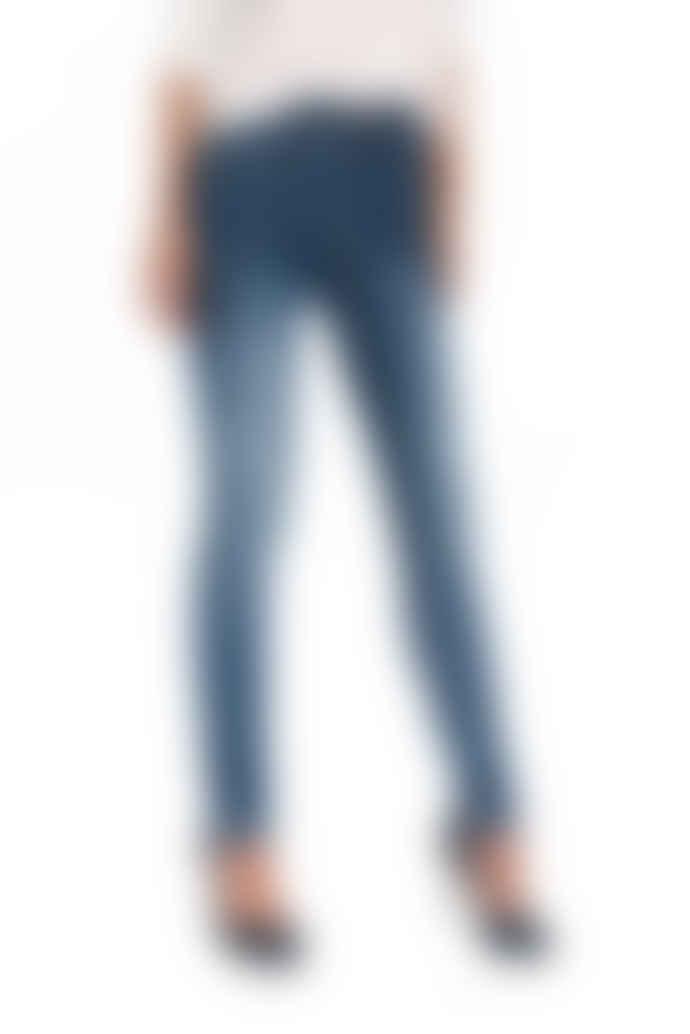 Salsa Jeans Blue Medium Soft Touch Secret Jeans Denim Skinny Push