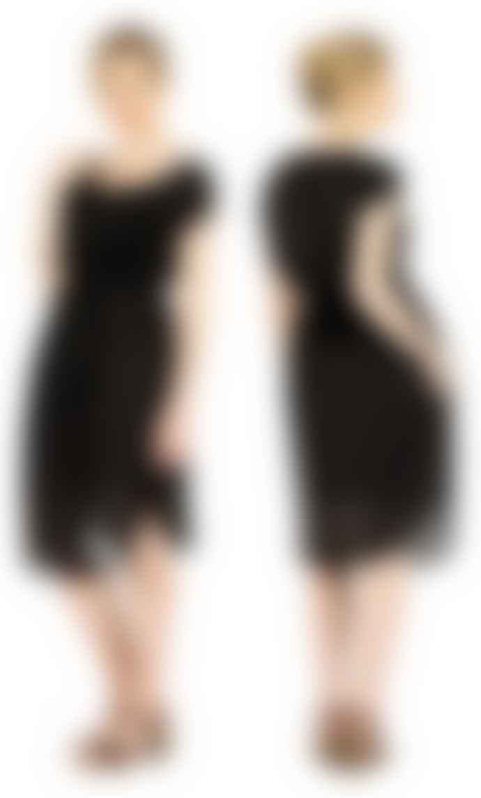 Format LOCK Black Plain Dress