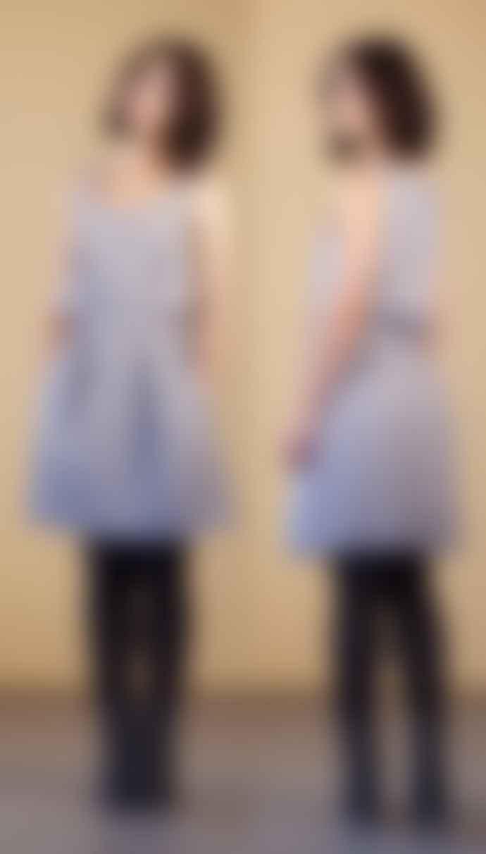 Format HEAT Grey Stripes Dress