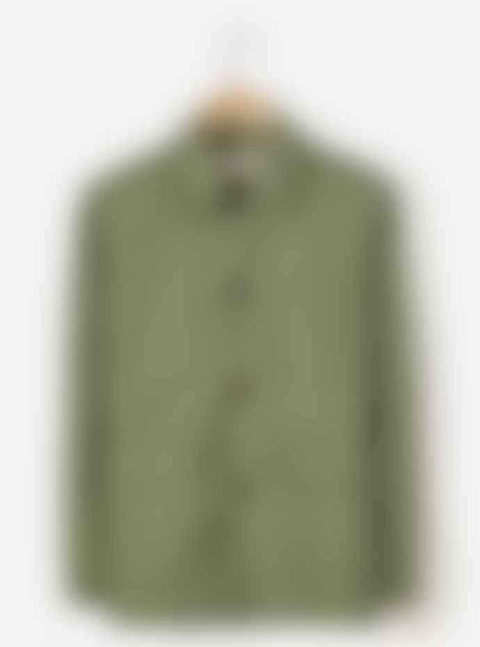 Universal Works Labour Jacket in Olive Compact Cotton