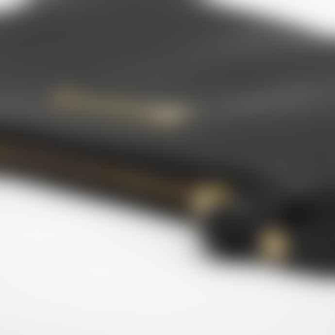 Mercules Arrow Black Leather Purse