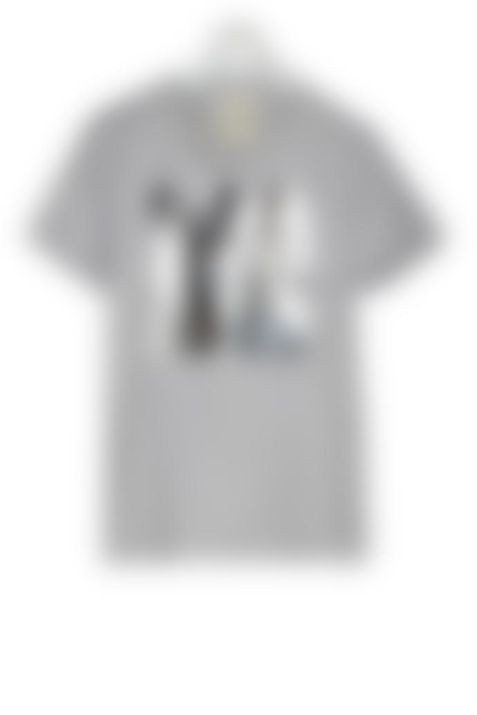 starstyling Sports Grey Silver Mirror Big Square T Shirt