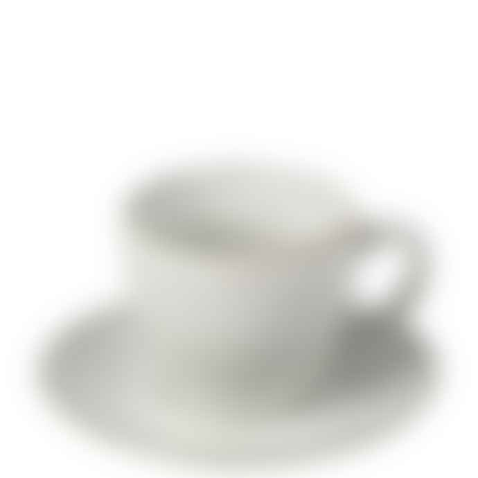 Broste Copenhagen Nordic Sand Hand Finished Stoneware Teacup and Saucer