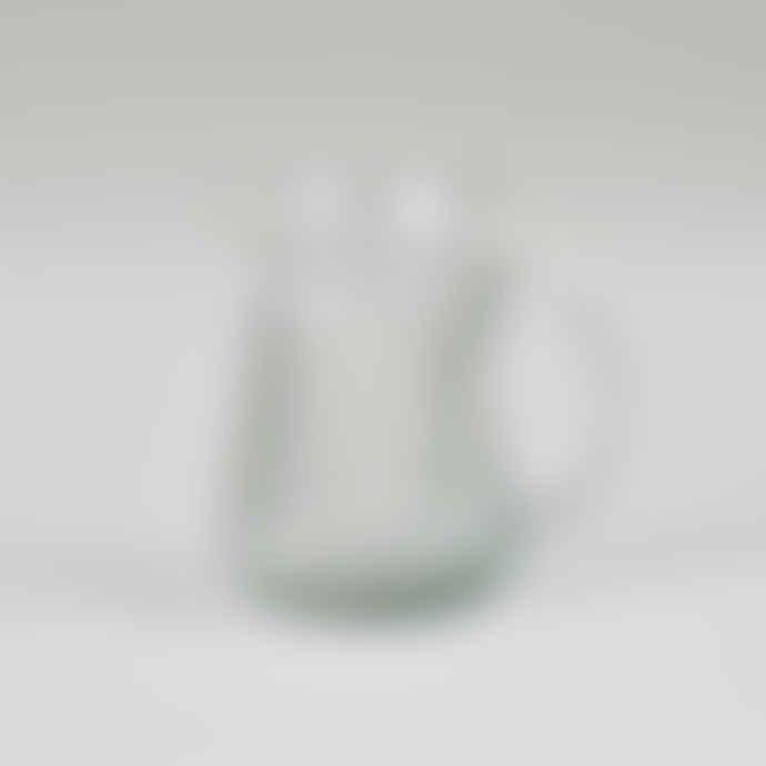 Grand Illusions Small Ribbed Glass Jug