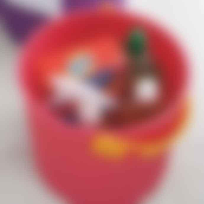 Hachiman Omnioutil Storage Bucket & Lid Medium in Purple/Pink