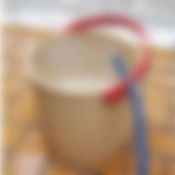 Hachiman Omnioutil Storage Bucket & Lid Large in Rose Pink/Grey