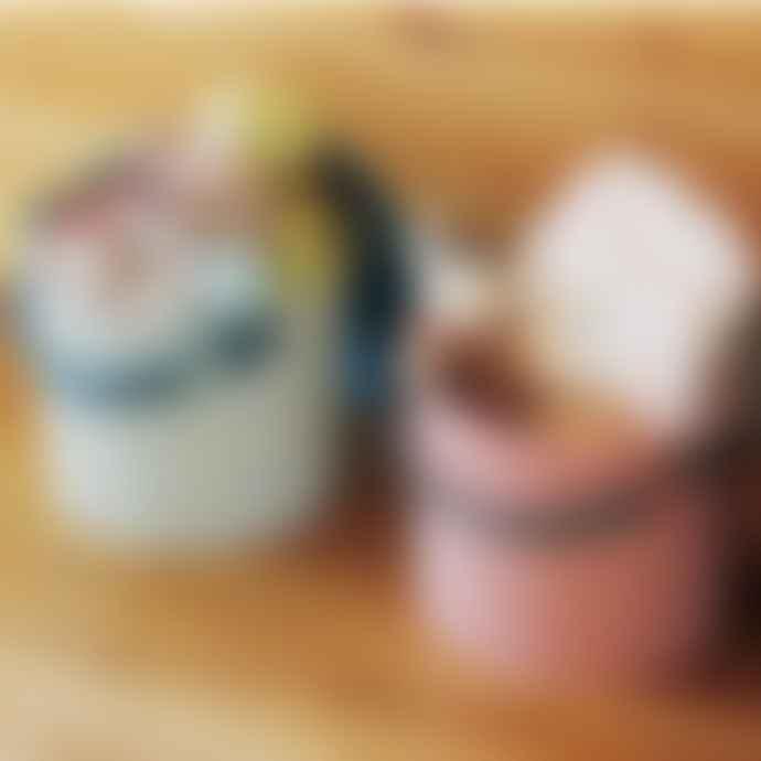 Hachiman Omnioutil Storage Bucket & Lid Small in Rose Pink/Grey