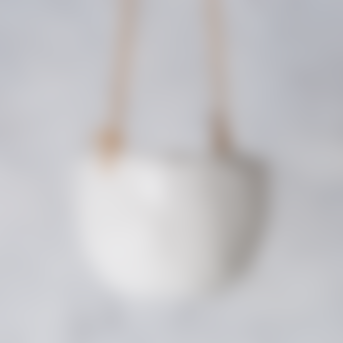 Burgon and Ball White Dimpled Ceramic Hanging Pot