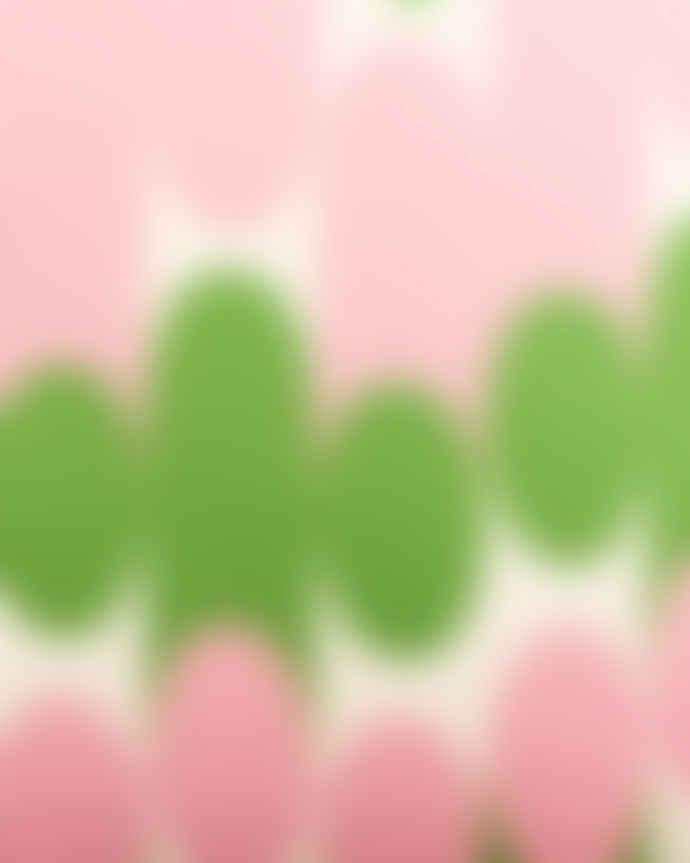 Laura Spring Pink and Green Molkky Cushion