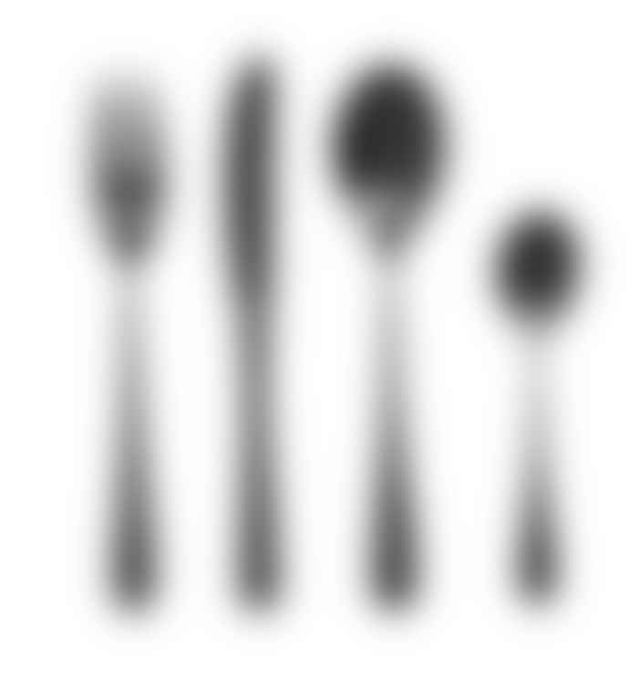 Nordal Matte Black 4 Piece Cutlery Set