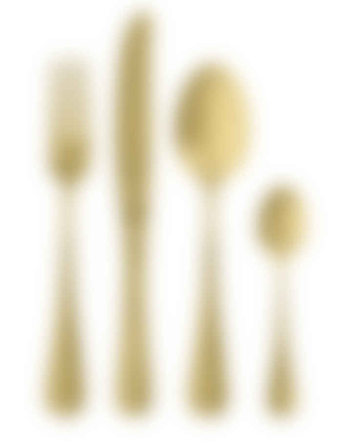 Nordal Gold 4 Piece Cutlery Set