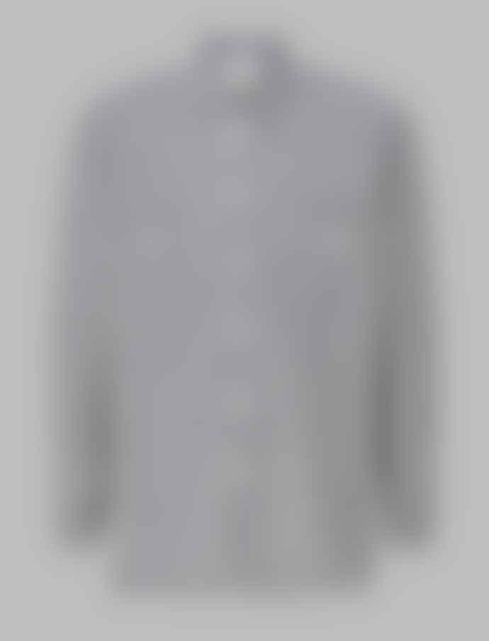 JJ Emlyn Grey Cotton Stripe Shirt