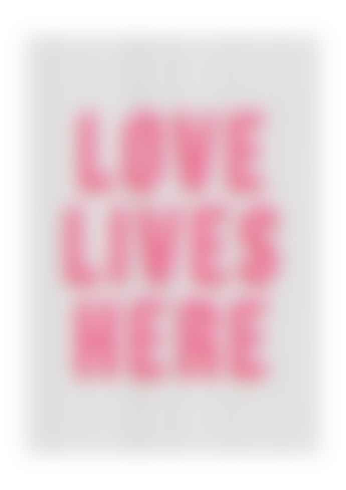 East End Prints  Love Lives Here A2 Framed Print