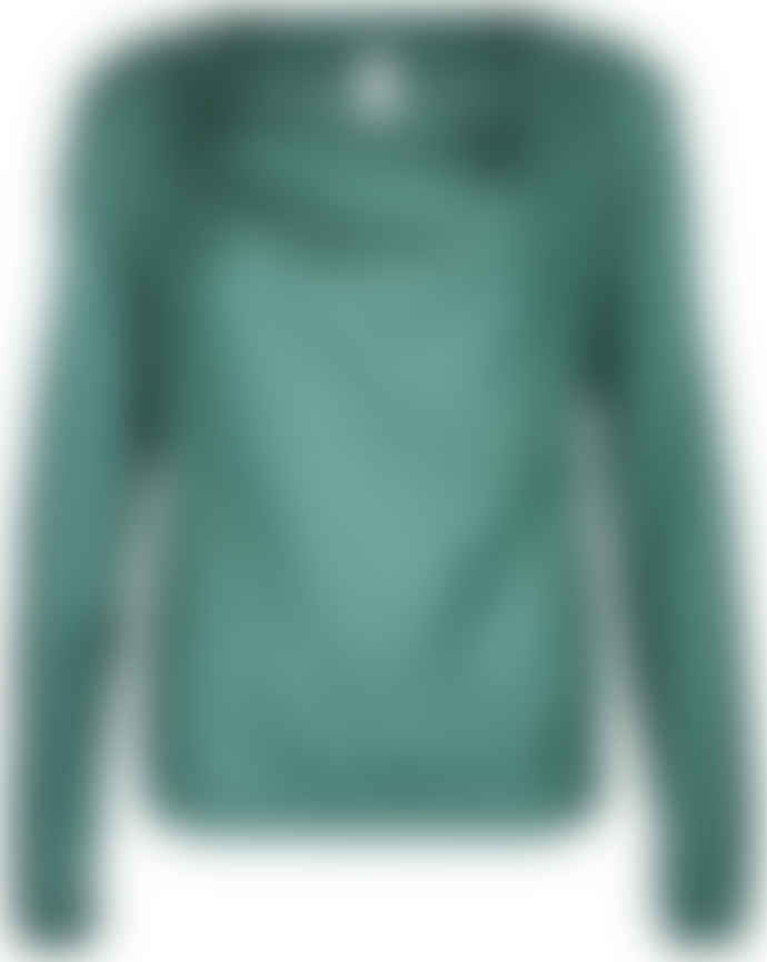 Format LIZZ Green Plain Long Sleeve Blouse