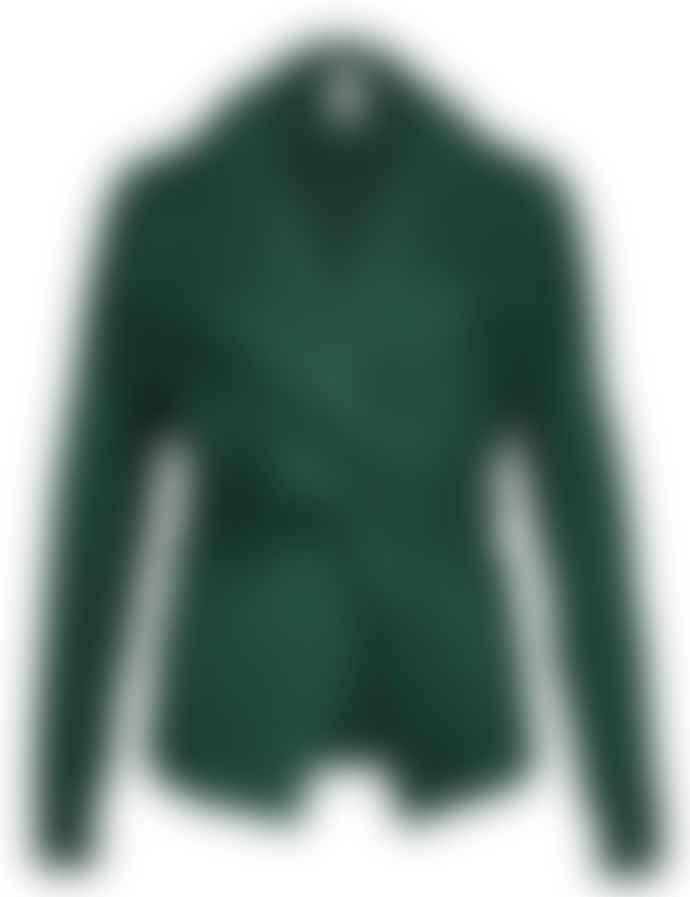 Format Bind Green Sweat Fluffy Cardigan