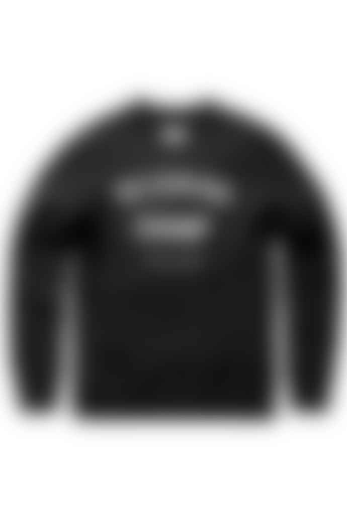 Reigning Champ Black Gym Logo Crew Neck Sweater