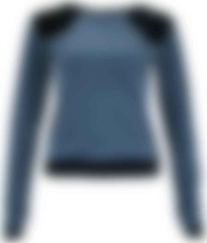 Format LENE Grey Black Velours Sweater