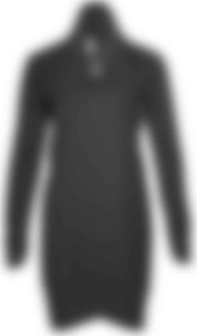 Format POND Black Sweat Fluffy Sweat Dress