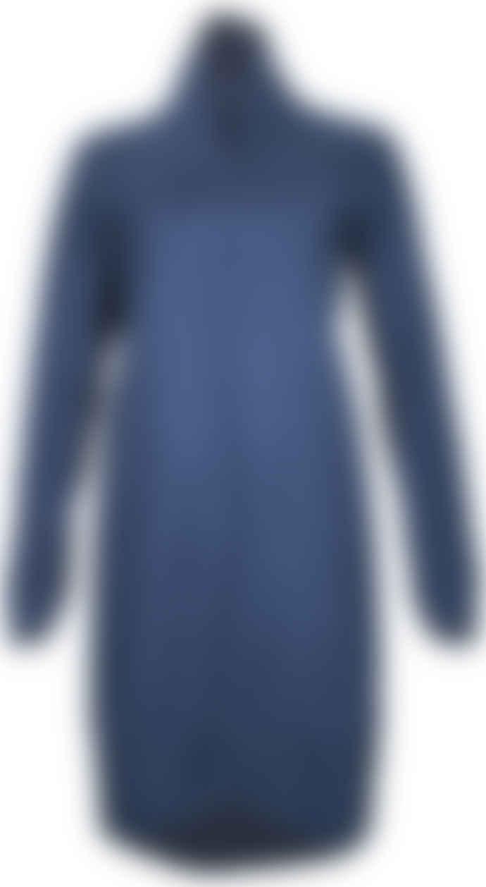 Format POND Dark Blue Fluffy Sweat Dress