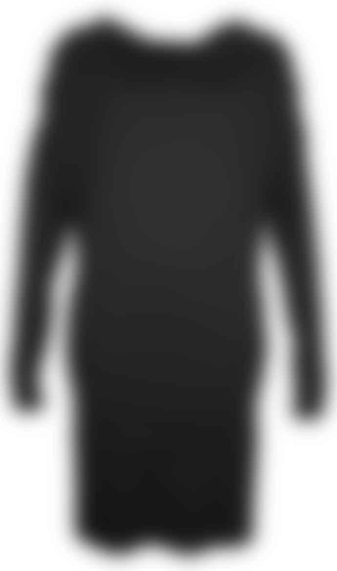 Format TJOK Black Single Long Sleeved Dress