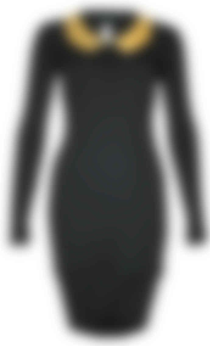Format YOKE Black Wood Interlock Dress