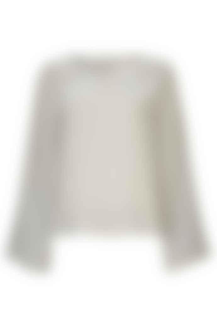 Kokoon Light Grey Bina Silk Velvet Top