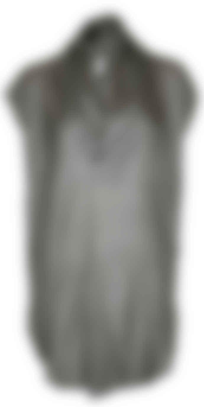 Format TOAT Dark Grey Organic Silk Toat Dress Blouse