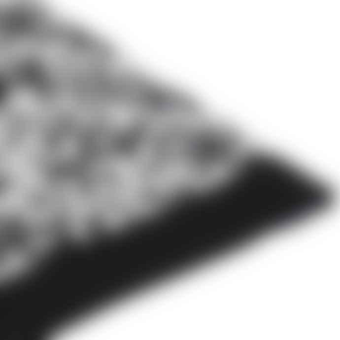 Jennifer Kent Grey Pixel Merino Wool Scarf