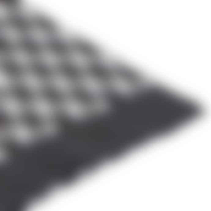 Jennifer Kent Grey Cuboid Merino Wool Scarf
