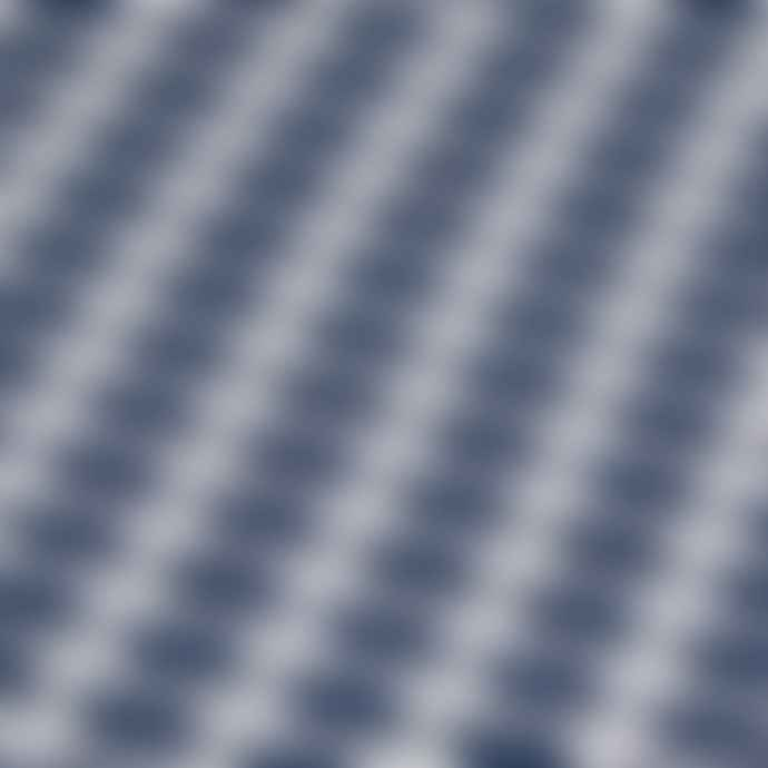 Jennifer Kent Navy Cuboid Merino Wool Scarf