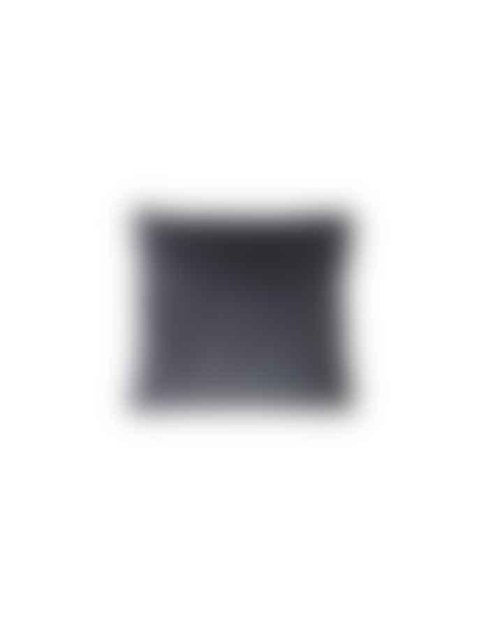 Ferm Living Dark Grey with Brass Zipper Corduroy Cushion